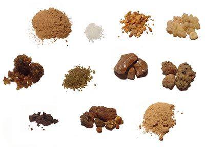 Tipos de incienso aromatico