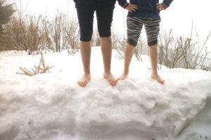 agua fría nieve
